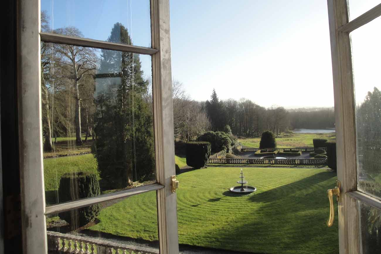 exclusive wedding and party venue - view of garden form upsatirs window
