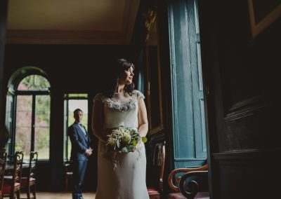 Wedding Couple in Dining Room - Gloster House