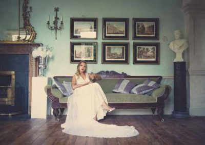 Bride in Gloster Music Room