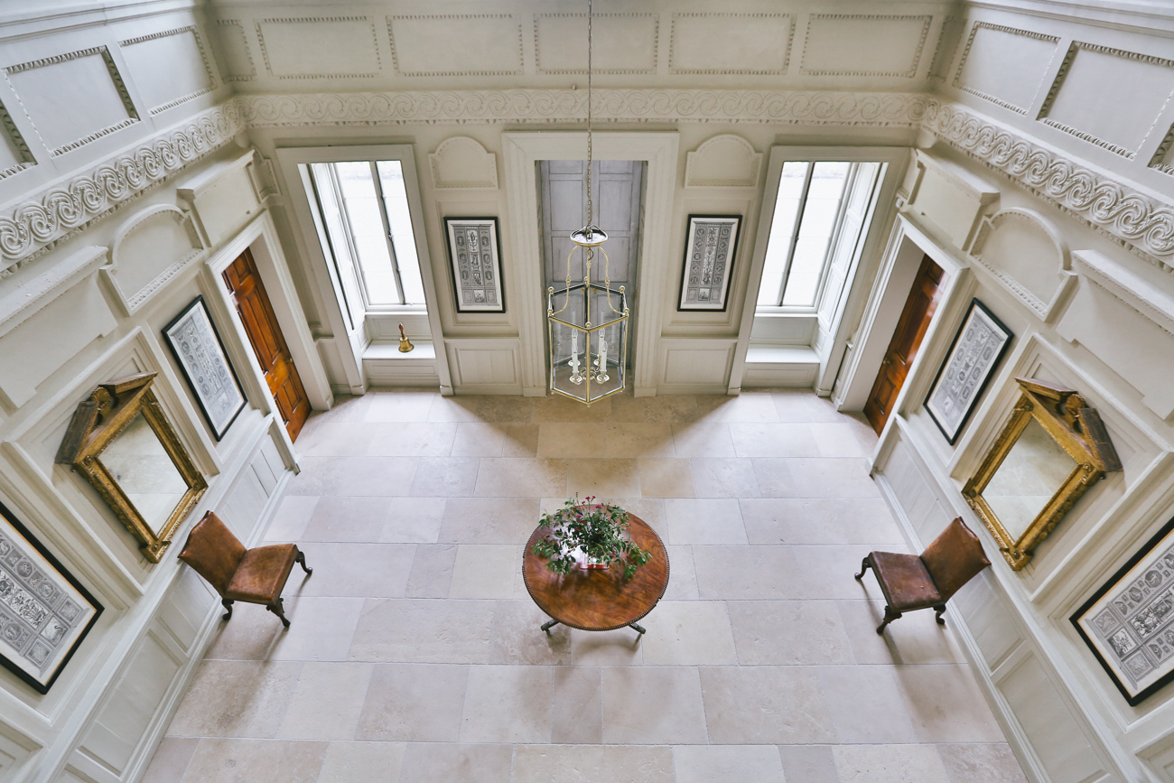 Front Hall from Balcony at Gloster House