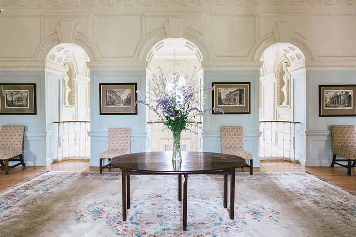 exclusive wedding venue - Floral display at gloster House