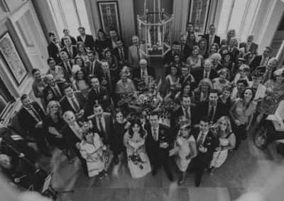 Gloster House - Wedding Crowd in Front Hall