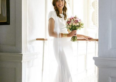 Bride with Bouquet at Gloster