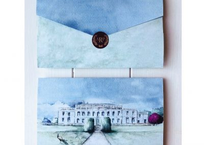 Wedding invite to Gloster House, Offaly