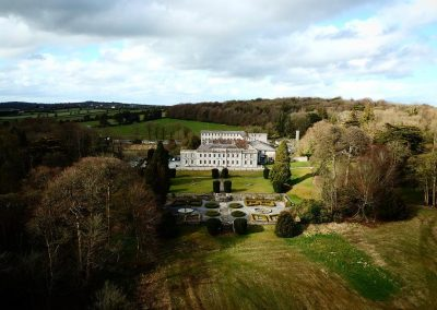 Gloster House and Gardens Aerial Shot