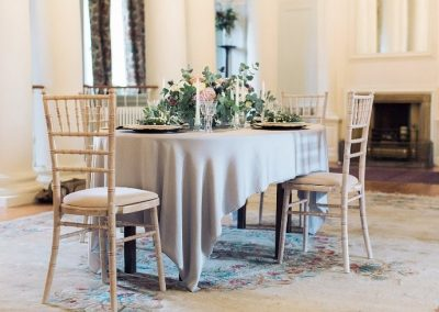 Gloster House Intimate Meal Setting