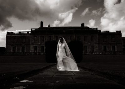 Bride in Dark Gloster House