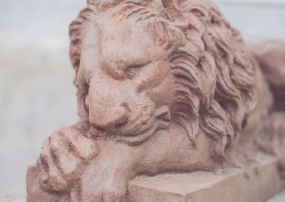 Lion Watches the Door at Gloster House