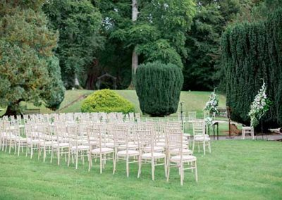 Outdoor Wedding Ceremony at Gloster House