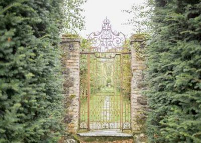 Gate to Gloster House Walled Garden